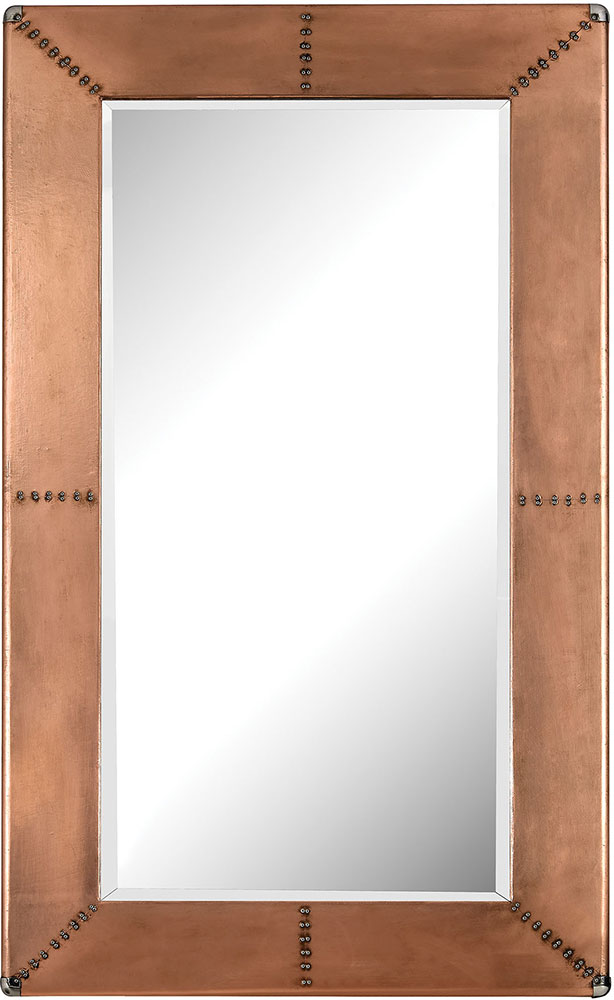 Lazy Susan 3100-011 Modern Copper Copper Frame Mirror With Nail Head ...