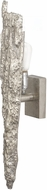 Lazy Susan 468016 Silver Bark Contemporary Silver Wall Sconce