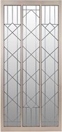 Lazy Susan 7011-030 Contemporary Champagne Gold Empire State Floor Mirror With Leaded Glass