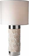 Lazy Susan 762001 Clam Rose Column Cream Table Lamp