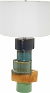 Lazy Susan 857136 Stacked Oval Contemporary Multi Ombre Table Light