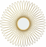 Lazy Susan 8990-043 Guilloche Contemporary Gold Wall Mounted Mirror