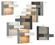 LBL Ashland 5 Inch Wide Contemporary LED Wall Sconce With Backing Options
