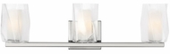 LBL BA1046CRPC2G Avant Contemporary Polished Chrome Halogen 3-Light Bath Lighting