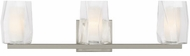 LBL BA1046CRSC2G Avant Modern Satin Nickel Halogen 3-Light Bathroom Light