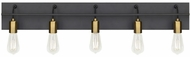 LBL BA1083BLABLED927 Tae Modern Black / Aged Brass LED 5-Light Bathroom Light Fixture