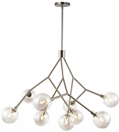 LBL CH1027SCLED927 Sycamore Contemporary Satin Nickel LED Chandelier Light