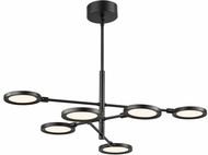 LBL CH1033BLLED930 Spectica Contemporary Black / Black LED Lighting Chandelier