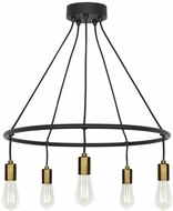 LBL CH1076BLABLED927 Tae Contemporary Black / Aged Brass LED Chandelier Light