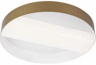 LBL FM1057GDWHLED930 Slot Contemporary Gold / White LED Ceiling Light Fixture