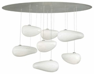 LBL HS51307OP Constellation Contemporary Chandelier with Seven Hanging Pebble Pendants