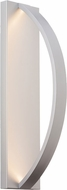 LBL OD819SILEDW Hunter Contemporary Silver LED Exterior Wall Light Sconce