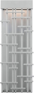 LBL OD826SILEDW Pier 60 Contemporary Silver LED Exterior Lamp Sconce
