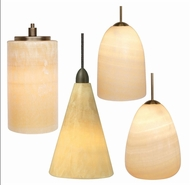 LBL Onyx Contemporary Mini Pendant Light in Cone, Cylinder, Dome, or Teardrop Form
