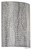 LBL Rami 11 Inch Tall Acid-Etched Pattern Stainless Steel Wall Light Sconce