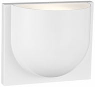 LBL WS1068WHLEDWDW Savino Modern Matte White LED Wall Light Fixture