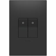 Legrand Adorne AABK1G4 Contemporary Graphite Blank Half-Size Lighting Control