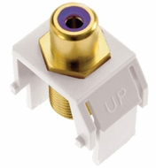 Legrand Adorne ACPRCAFW1 Contemporary White Subwoofer RCA to F-Connector