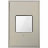Legrand Adorne ADTH700RMTUW1 Contemporary Magnesium Touch Dimmer 700W Wi-Fi Ready Master (Incandescent Halogen MLV Fluorescent ELV CFL LED)