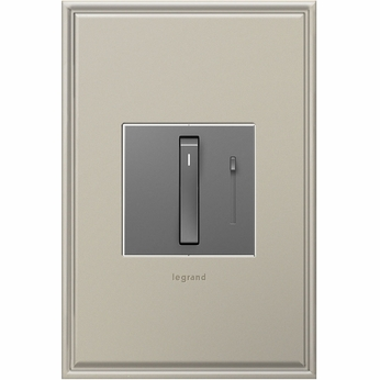 Legrand Adorne ADWR1103HM4 Contemporary Magnesium Whisper Dimmer 1100W (Incandescent Halogen)