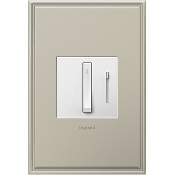 Legrand Adorne ADWR600RMHW1 Modern White Whisper Dimmer 600W Wi-Fi Ready Master (Incandescent Halogen)