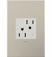Legrand Adorne ARCH152W10 Modern White  Tamper-Resistant Half Controlled Outlet