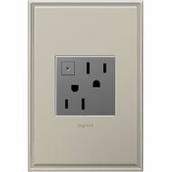 Legrand Adorne ARPS152M4 Contemporary Magnesium Energy-Saving On/Off Outlet 15A