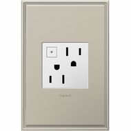 Legrand Adorne ARPS152W4 Modern White Energy-Saving On/Off Outlet 15A