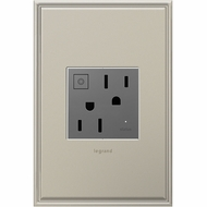 Legrand Adorne ARPS15RF2M4 Contemporary Magnesium Wi-Fi Ready On/Off Outlet 15A