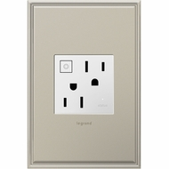 Legrand Adorne ARPS15RF2W4 Modern White Wi-Fi Ready On/Off Outlet 15A