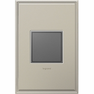 Legrand Adorne ARPTR151GM2 Contemporary Magnesium Pop-Out Outlet 1-Gang