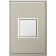 Legrand Adorne ARPTR151GW2 Modern White Pop-Out Outlet 1-Gang