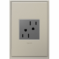 Legrand Adorne ARTR152M4 Contemporary Magnesium Tamper-Resistant Outlet 15A