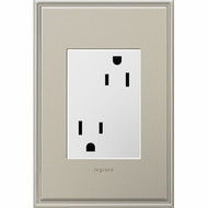 Legrand Adorne ARTR153W4 Modern White Tamper-Resistant Outlet Plus Size 15A