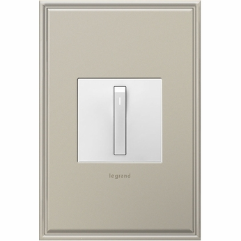 Legrand Adorne ASWRRRW1 Modern White Whisper Switch Wi-Fi Ready Remote