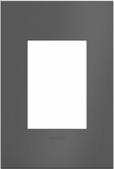 Legrand Adorne AWC1G3BBN4 Cast Metals Contemporary Brushed Black Nickel 1-Gang Wall Plate