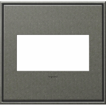 Legrand Adorne AWC2GBP4 Contemporary Burnished Pewter Brushed Pewter 2-Gang Wall Plate