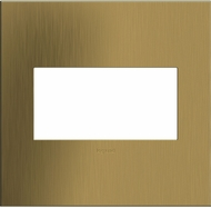 Legrand Adorne AWC2GBSB4 Cast Metals Contemporary Brushed Satin Brass 2-Gang Wall Plate