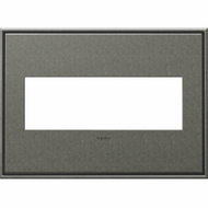 Legrand Adorne AWC3GBP4 Contemporary Burnished Pewter Brushed Pewter 3-Gang Wall Plate