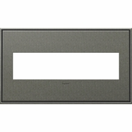 Legrand Adorne AWC4GBP4 Contemporary Burnished Pewter Brushed Pewter 4-Gang Wall Plate