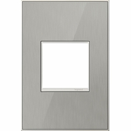 Legrand Adorne AWM1G2MS4 Modern Mirror Brushed Stainless Brushed Stainless 1-Gang Wall Plate