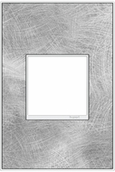 Legrand Adorne AWM1G2SP4 Real Materials Contemporary Spiraled Stainless 1-Gang Wall Plate