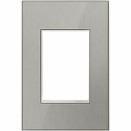 Legrand Adorne AWM1G3MS4 Contemporary Mirror Brushed Stainless Brushed Stainless 1-Gang Wall Plate