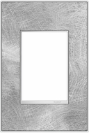 Legrand Adorne AWM1G3SP4 Real Materials Contemporary Spiraled Stainless 1-Gang Wall Plate