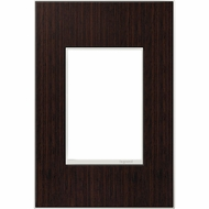 Legrand Adorne AWM1G3WE4 Contemporary Wenge Wenge Wood 1-Gang Wall Plate