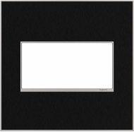 Legrand Adorne AWM2GBLS4 Real Materials Contemporary Black Stainless 2-Gang Wall Plate