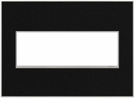 Legrand Adorne AWM3GBLS4 Real Materials Modern Black Stainless 3-Gang Wall Plate