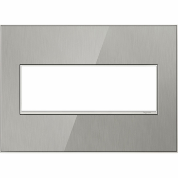 Legrand Adorne AWM3GMS4 Contemporary Mirror Brushed Stainless Brushed Stainless 3-Gang Wall Plate