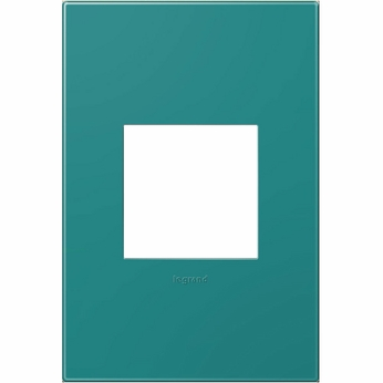 Legrand Adorne AWP1G2TB4 Modern Turquoise Blue Turquoise Blue 1-Gang Wall Plate