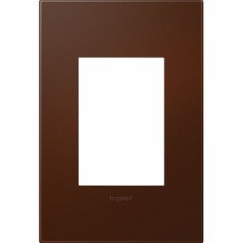 Legrand Adorne AWP1G3RS4 Contemporary Russet Soft Touch Russet 1-Gang Wall Plate